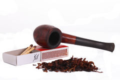 The Tabacco Pipe On The White Background  Unhealthy Royalty Free Stock Image