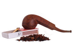 The Tabacco Pipe On The White Background  Unhealthy Royalty Free Stock Photos