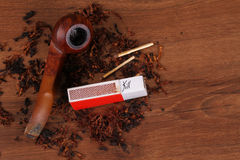The Tabacco Pipe On The Wood Unhealthy Stock Photos