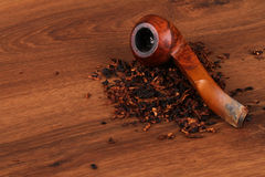 The Tabacco Pipe On The Wood Unhealthy Stock Photography