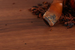 The Tabacco Pipe On The Wood Unhealthy Royalty Free Stock Photos