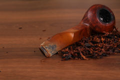 The Tabacco Pipe On The Wood Unhealthy Stock Images