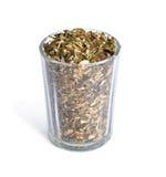 tabaco de tubo Listo-frotado en pequeño vidrio Fotos de archivo libres de regalías
