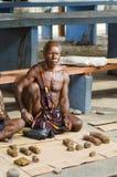Tabak angezeigt für Verkauf an einem lokalen Markt in Wamena Lizenzfreie Stockfotografie