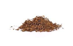 tabak op een witte achtergrond wordt geïsoleerd die Stock Fotografie