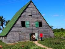 Tabak-trocknende Scheune in Kuba Stockbilder