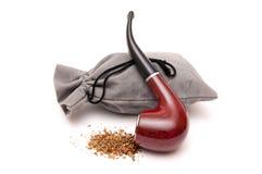 Tabaktasche und -gefäß für das Rauchen Lizenzfreie Stockfotos