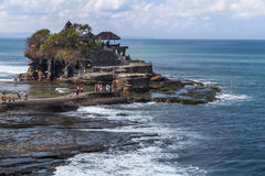 Tabanan Bali, Indonezja,/- 09 25 2015: Pura Tanah udział w Bali, Indonezja Fotografia Stock