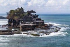 Tabanan Bali, Indonezja,/- 09 25 2015: Pura Tanah udział w Bali, Indonezja Zdjęcie Royalty Free