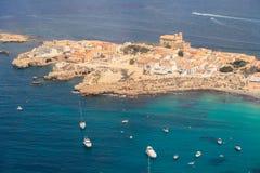 Остров Tabarca в Аликанте, Испании Стоковое Изображение RF