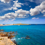 Tabarca island alicante mediterranean blue sea Royalty Free Stock Photos