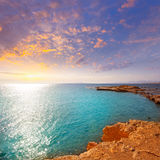 Tabarca island alicante mediterranean blue sea Stock Photo