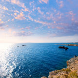 Tabarca island alicante mediterranean blue sea Royalty Free Stock Image