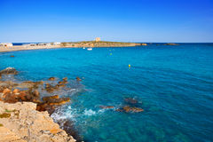 Tabarca island alicante mediterranean blue sea Royalty Free Stock Photography