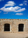 Tabarca Island battlement fort masonry wall detail Stock Photography