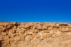 Tabarca Island battlement fort masonry wall detail Stock Photos