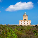 Tabarca island Lighthouse in Alicante Spain. At Mediterranean sea royalty free stock photo