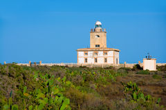 Tabarca island Lighthouse in Alicante Spain. At Mediterranean sea royalty free stock images