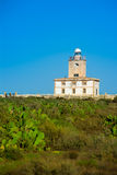 Tabarca island Lighthouse in Alicante Spain Stock Photo