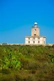 Tabarca island Lighthouse in Alicante Spain. At Mediterranean sea stock photo