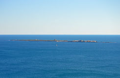 Tabarca Island Viewed From Mainland Spain stock images