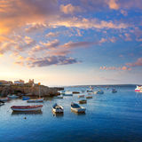 Tabarca islands boats in alicante Spain Royalty Free Stock Image