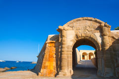 Tabarca Puerta de San Miguel de Tierra fort door arc Royalty Free Stock Photography
