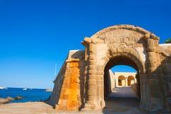 Tabarca Puerta de San Miguel de Tierra fort door arc. In Alicante Spain Royalty Free Stock Photography