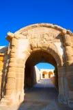 Tabarca Puerta de San Miguel de Tierra fort door arc. In Alicante Spain Stock Photography
