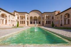 Tabatabaei议院在卡山,伊朗 库存照片