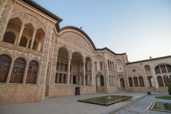 Tabatabaei议院在喀山,伊朗 免版税库存照片