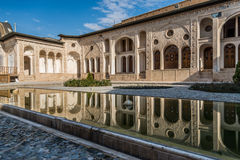 Tabatabaei historiskt hus i Kashan Arkivbilder