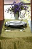 Tabble Set for Dinner Stock Images