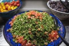 Tabbouleh Arabic also tabouleh. salad stock image