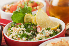 Tabbouleh, bulgur wheat salad Stock Photography