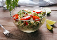 Tabbouleh with couscous and parsley Stock Photos