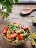 Tabbouleh with couscous and parsley Royalty Free Stock Image