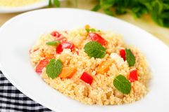 Tabbouleh - couscous salad Royalty Free Stock Images