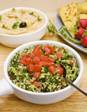 Tabbouleh with Hummus Royalty Free Stock Photo