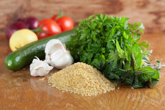 Tabbouleh ingredients Stock Photography
