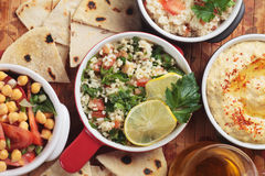 Tabbouleh, middle eastern bulgur salad Stock Photography