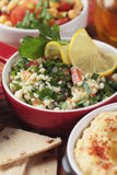 Tabbouleh, middle eastern salad with bulgur wheat pasta Royalty Free Stock Images