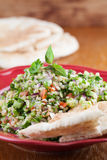 Tabbouleh with pita bread Royalty Free Stock Photo