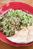 Tabbouleh with pita bread Stock Photography