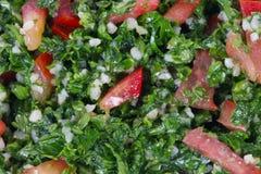 Tabbouleh salad. Macro texture background stock photography