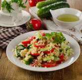 Tabbouleh salad with bulgur, parsley and vegetables Royalty Free Stock Photos