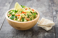 Tabbouleh salad with couscous and vegetables Royalty Free Stock Photography