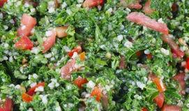 Tabbouleh salad macro. Tabbouleh and middle eastern food royalty free stock image