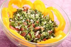 Tabbouleh, Tapas, Levantine-Vegetariersalat stockfoto