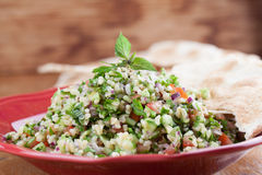 Free Tabbouleh With Pita Bread Stock Photo - 34445970